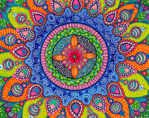 beautiful mandala coloring picture