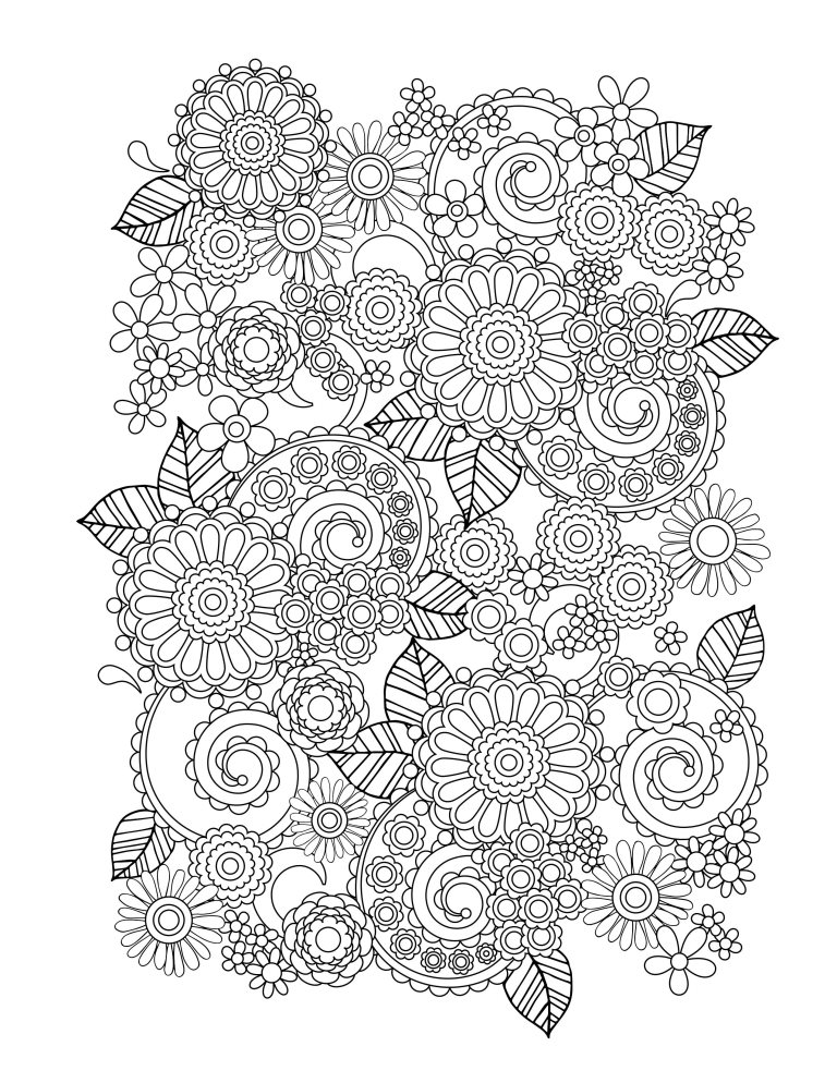 colorless abstract page for coloring