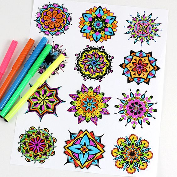 simple mandala schemes for beginners