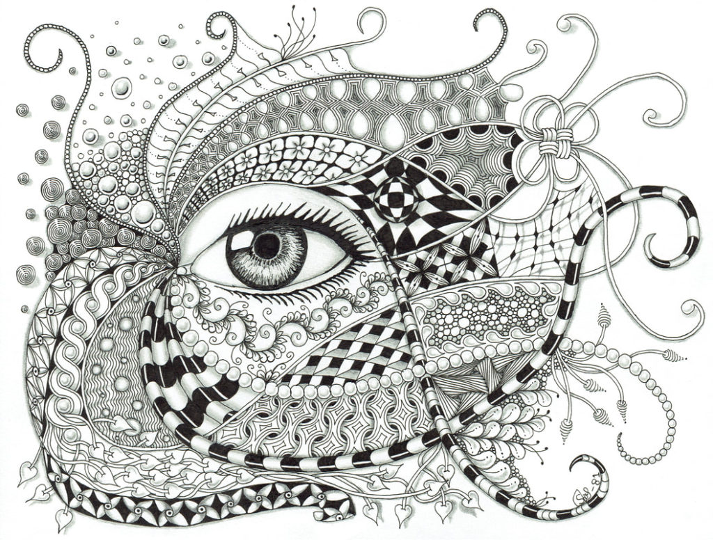 zentangle coloring page