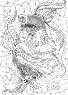 Fish and Sea Creatures Coloring Pages 2
