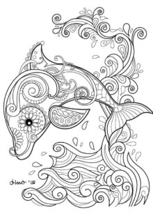 Fish and Sea Creatures Coloring Pages 4