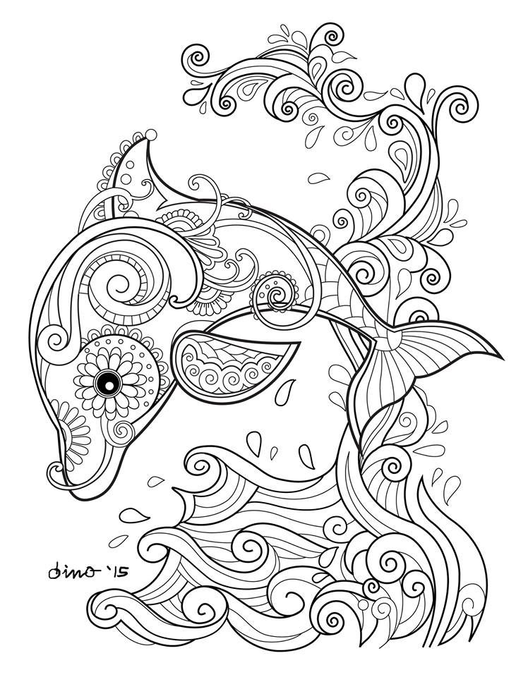 Fish And Sea Creatures Coloring Book AdultcoloringbookZ