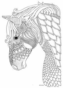 Horse Coloring Pages for Adults 2