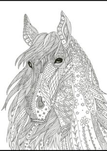 Horse Coloring Pages for Adults 4