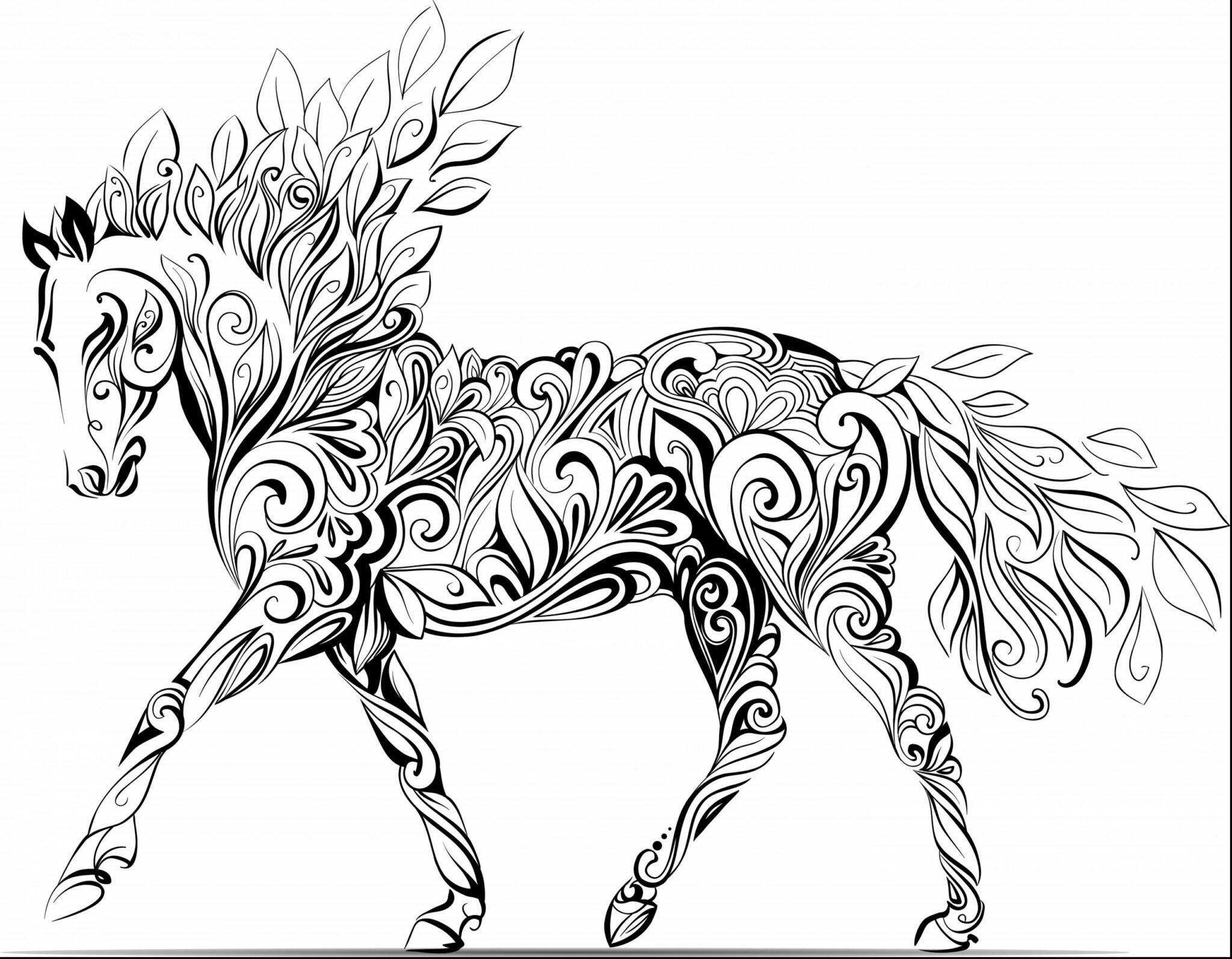 Horse Coloring Pages for Adults 5
