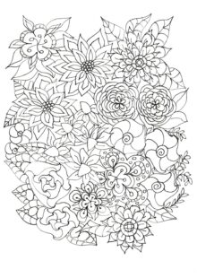flower coloring pages 3