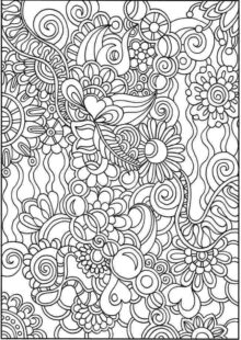 flower coloring pages 4