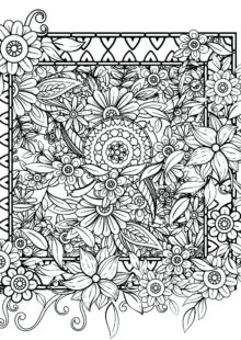 flower coloring pages 5