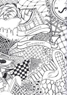 Alice in Wonderland Coloring Pages 1