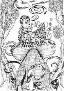 Alice in Wonderland Coloring Pages 2