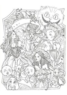 Alice in Wonderland Coloring Pages 3
