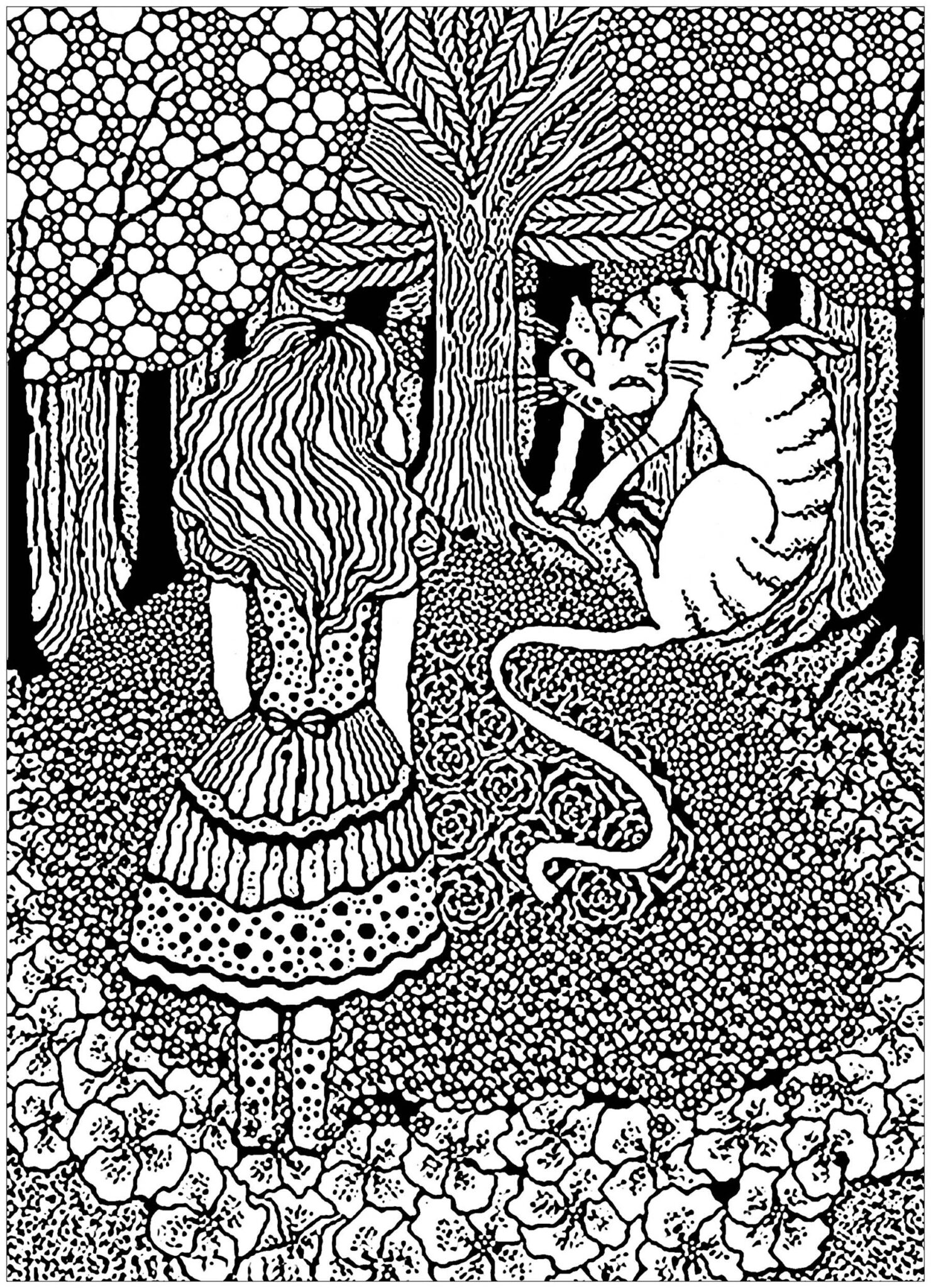 Alice in Wonderland Coloring Pages 5