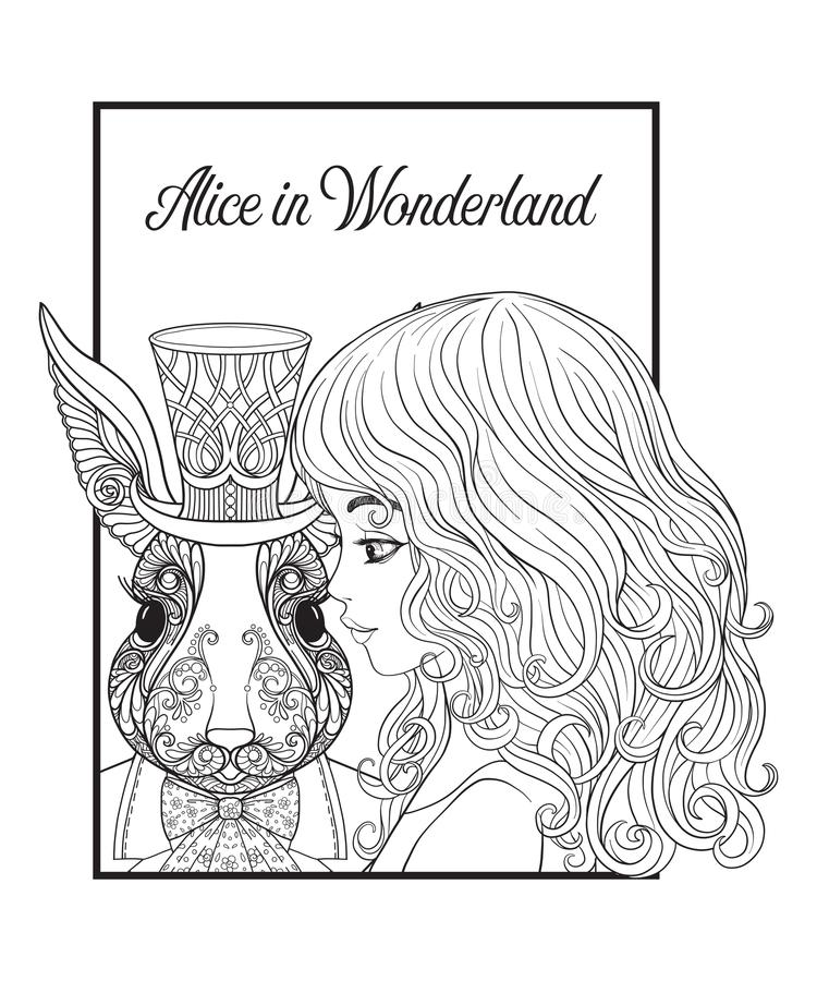 Alice In Wonderland Coloring Books AdultcoloringbookZ