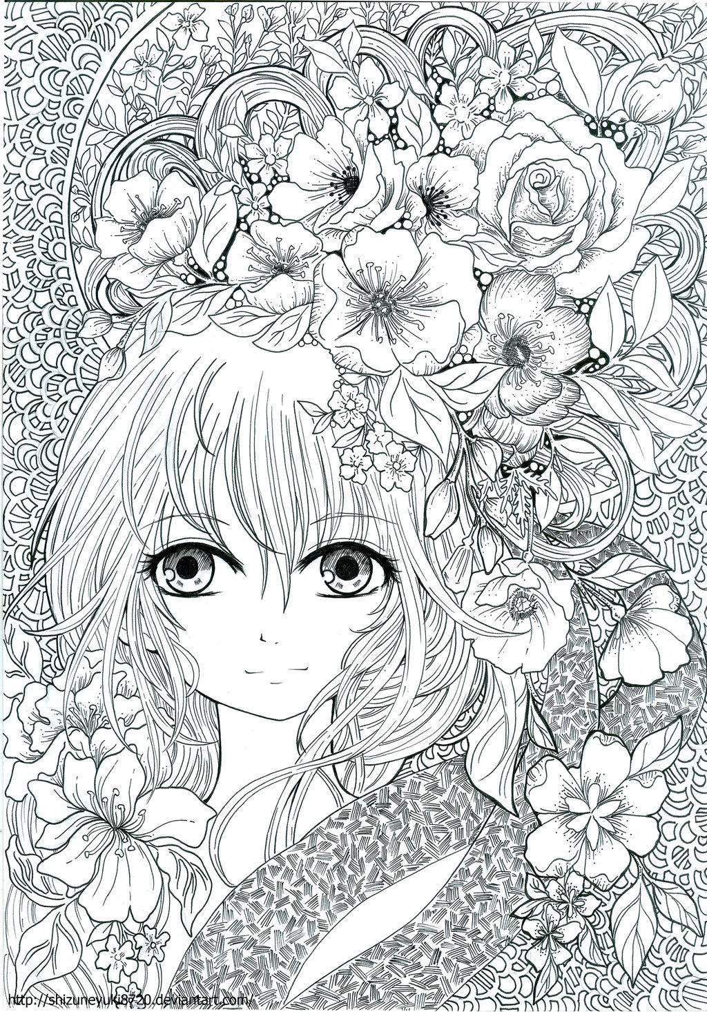 Anime Coloring Book | AdultcoloringbookZ