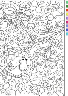 Color by Number Coloring Pages 1