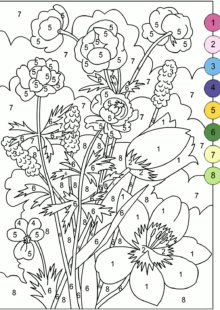 Color by Number Coloring Pages 3