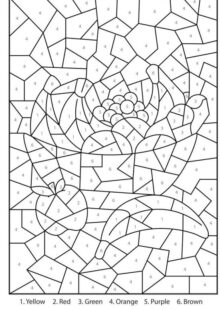 Color by Number Coloring Pages 6