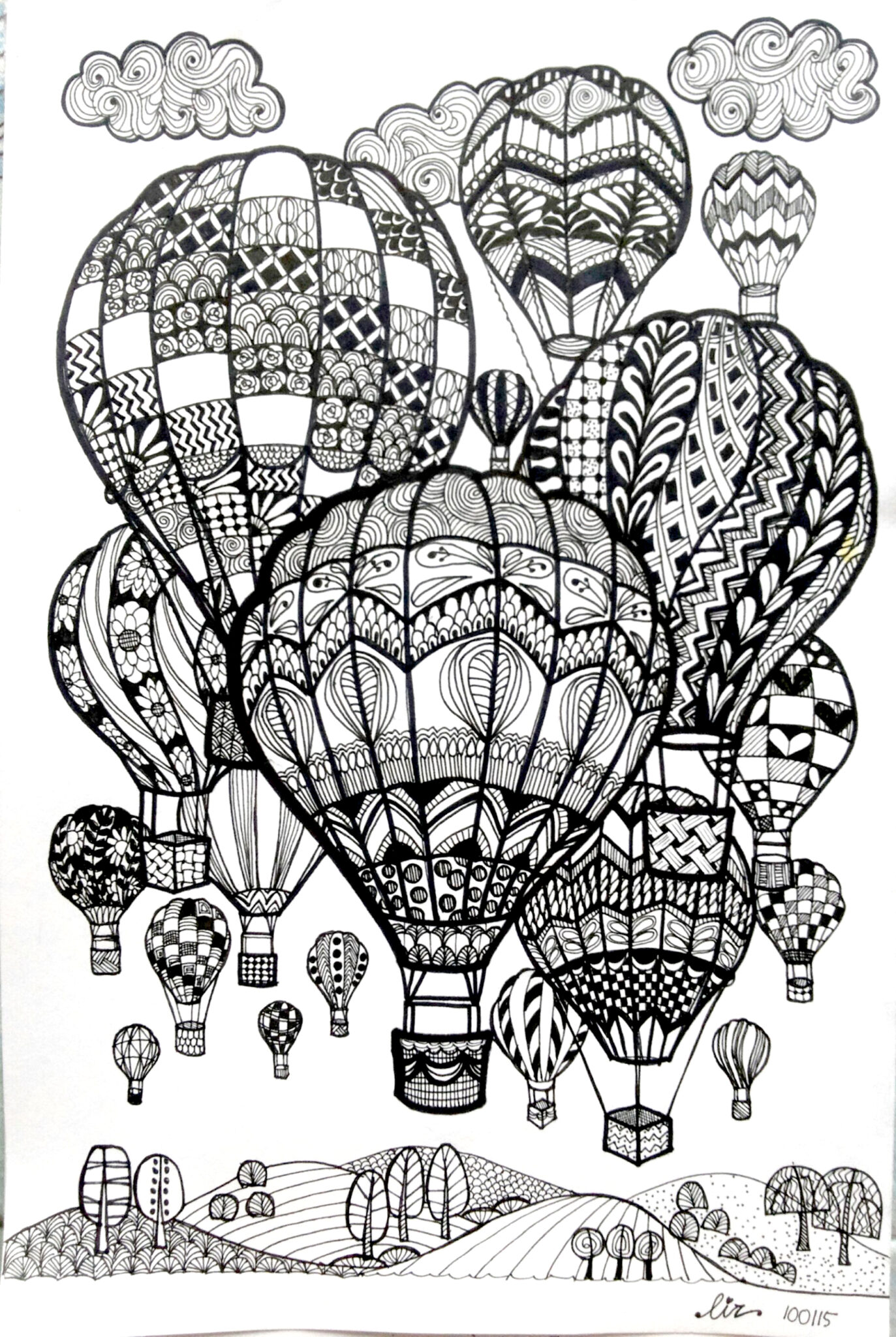 Doodle Art Coloring Pages 2