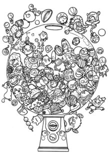Doodle Art Coloring Pages 4