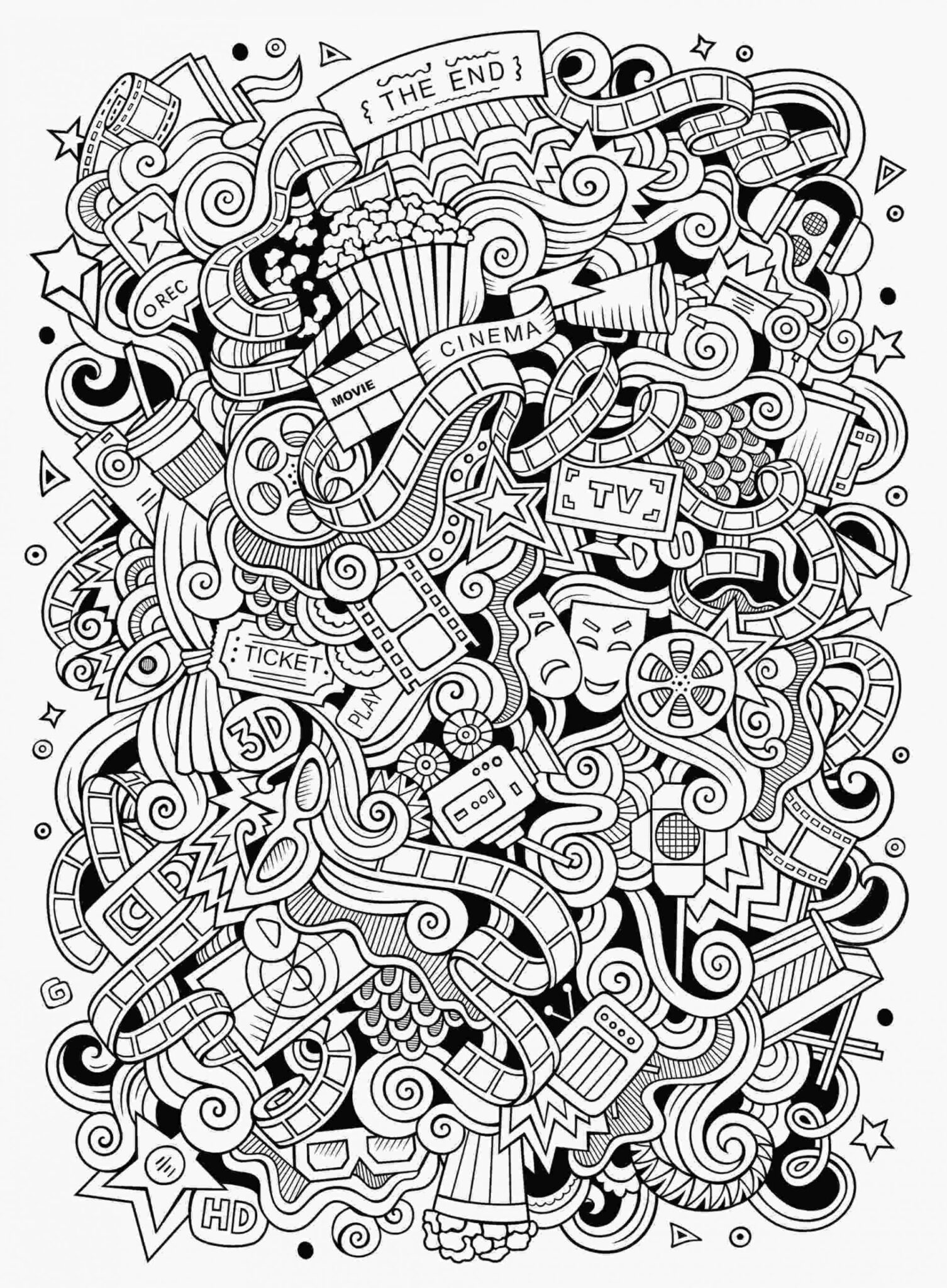 Doodle Art Coloring Pages 5