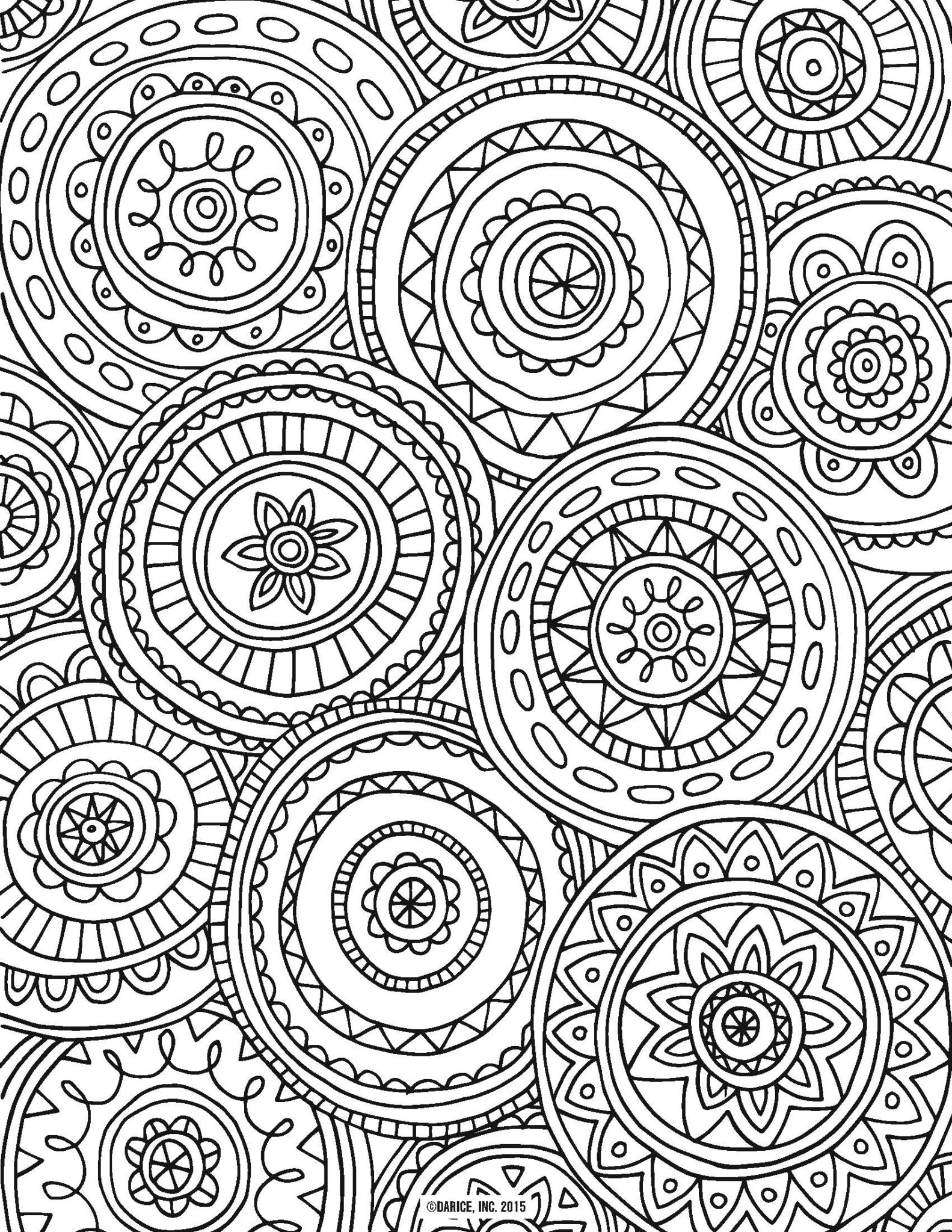 Doodle Art Coloring Pages 6