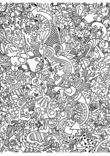 Doodle Art Coloring Pages 8