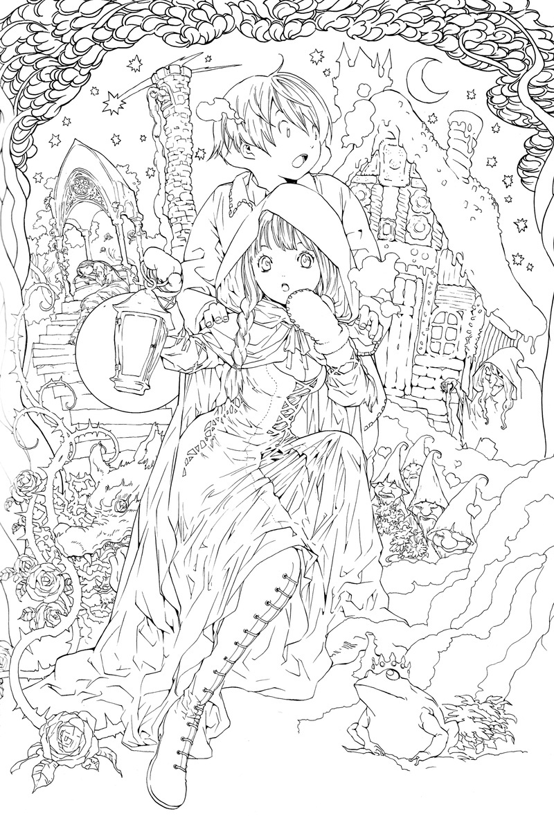 Adult Fairy Tale Coloring Books | AdultcoloringbookZ
