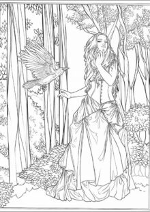 Adult Coloring Page Fantasy New Gallery 697 best Coloring pages to print Fantasy images on