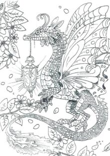 Fantasy Coloring Pages for Adult 4