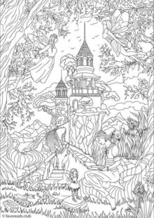 Fantasy Coloring Pages for Adult 7