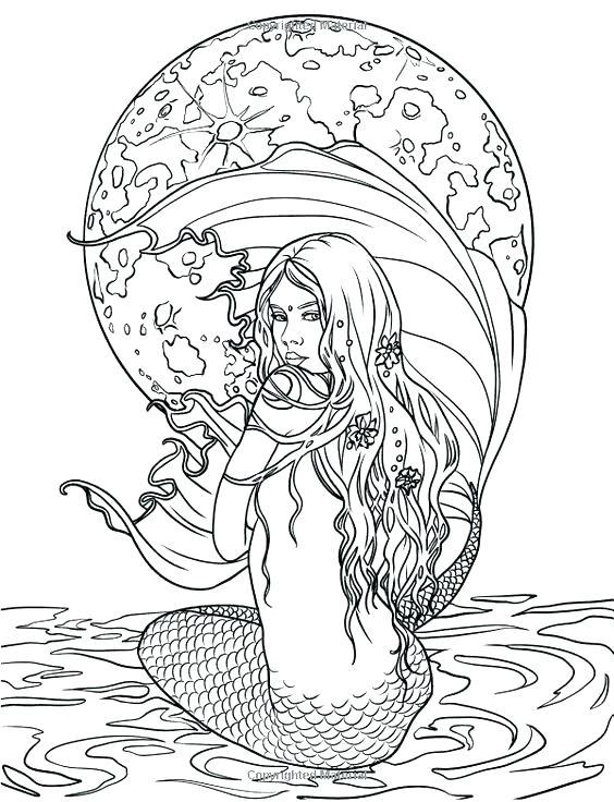 Mermaids Coloring Book Adultcoloringbookz