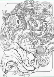 Mermaids Coloring Pages for Adults 7
