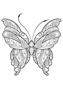 butterfly coloring pages-5