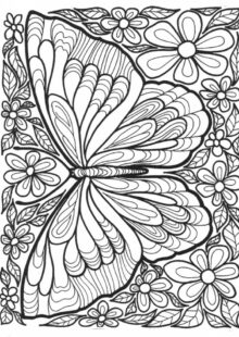 Printable Butterfly Coloring Pages for Adults   15637