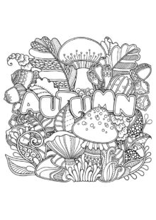 fall coloring pages 3