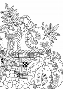 fall coloring pages 4