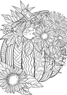 fall coloring pages 7