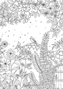 forest coloring pages 1