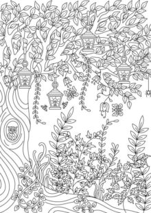 forest coloring pages 2