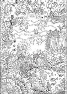 forest coloring pages 4