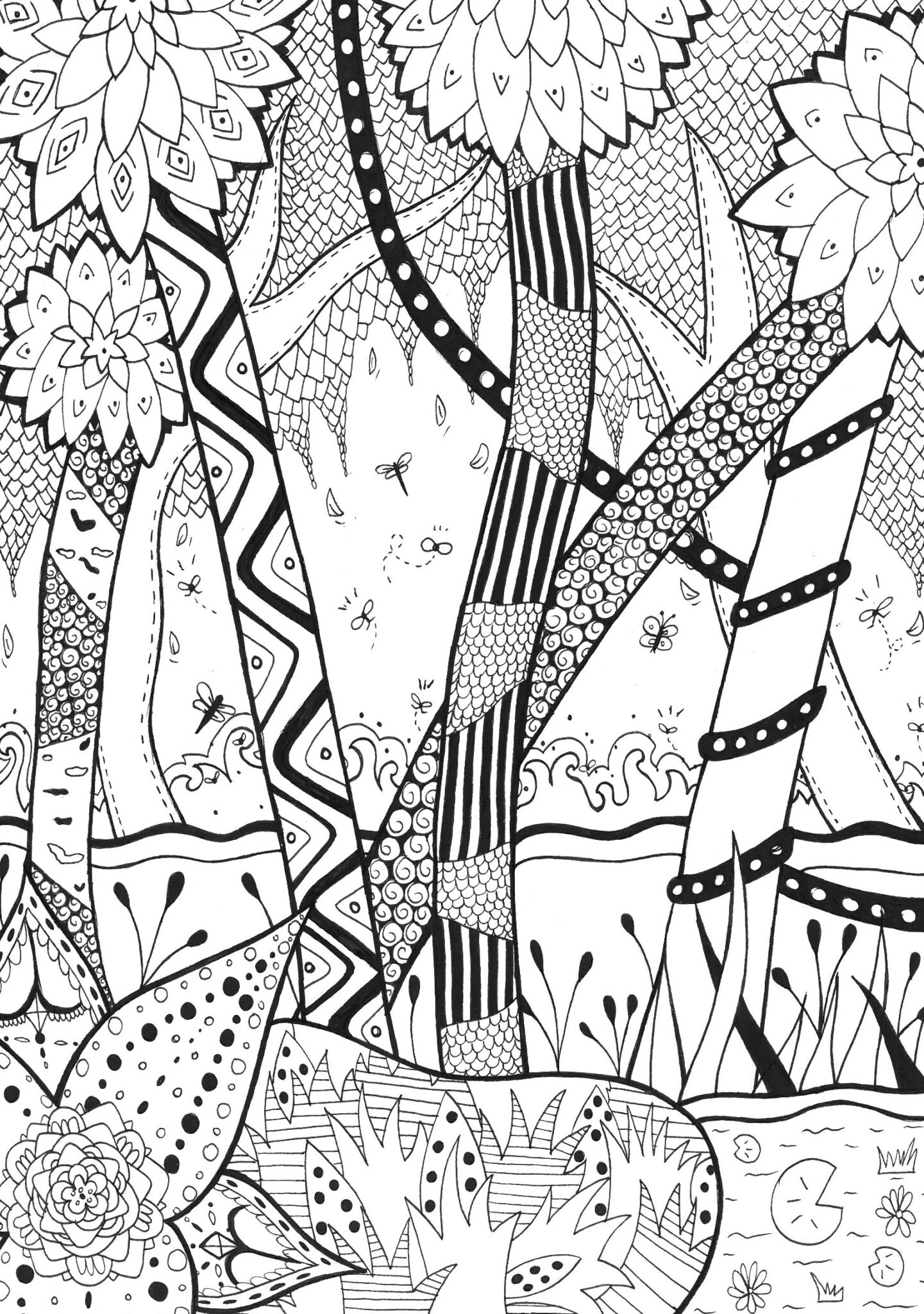 forest coloring pages 5