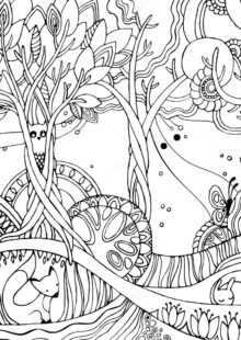 forest coloring pages 6