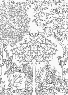 forest coloring pages 8