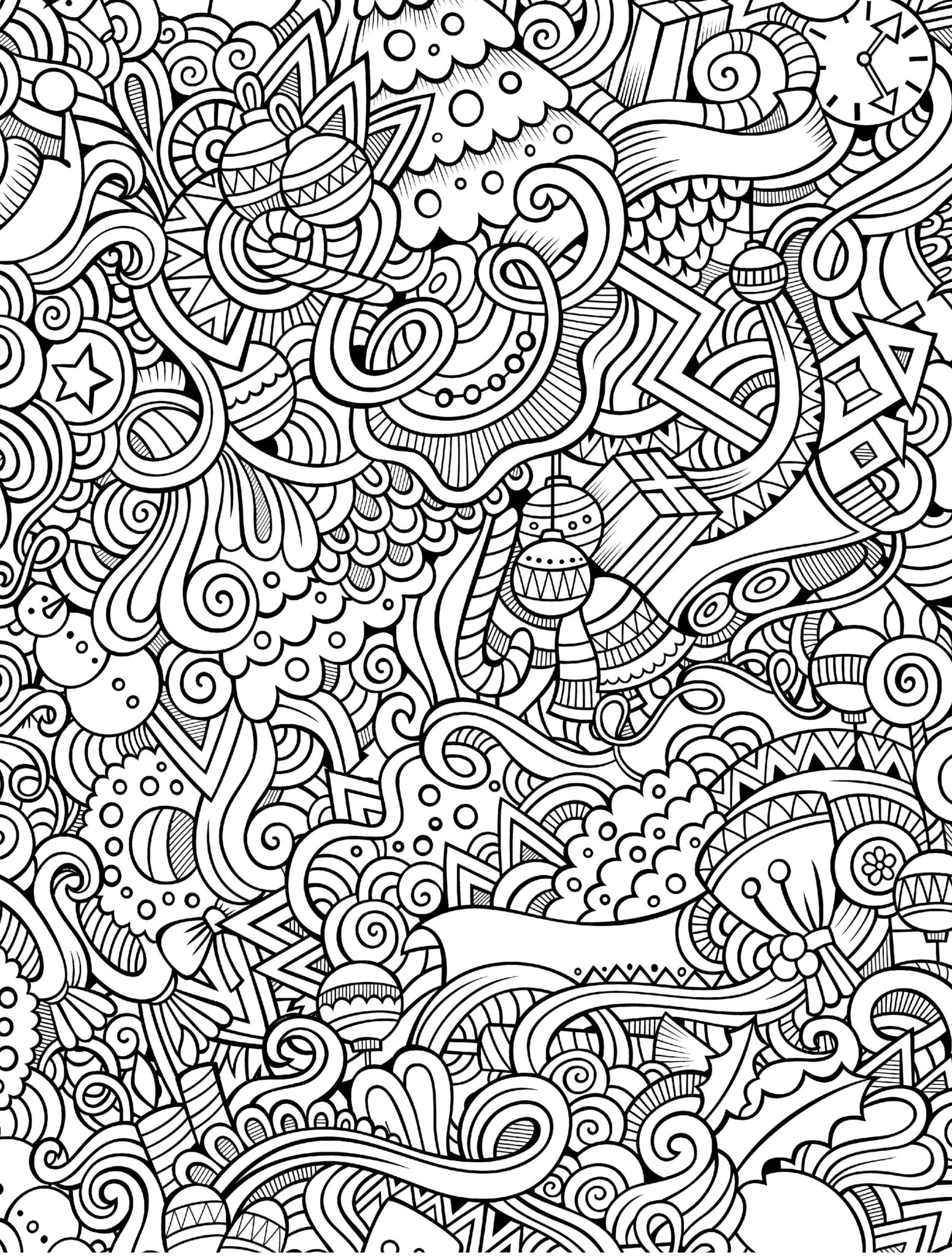 holiday coloring pages 1