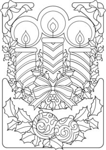 holiday coloring pages 3