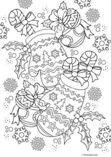 holiday coloring pages 6
