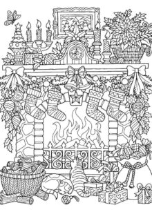 holiday coloring pages 7