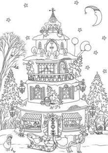 holiday coloring pages 8