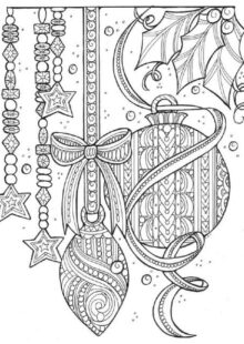 holiday coloring pages 9